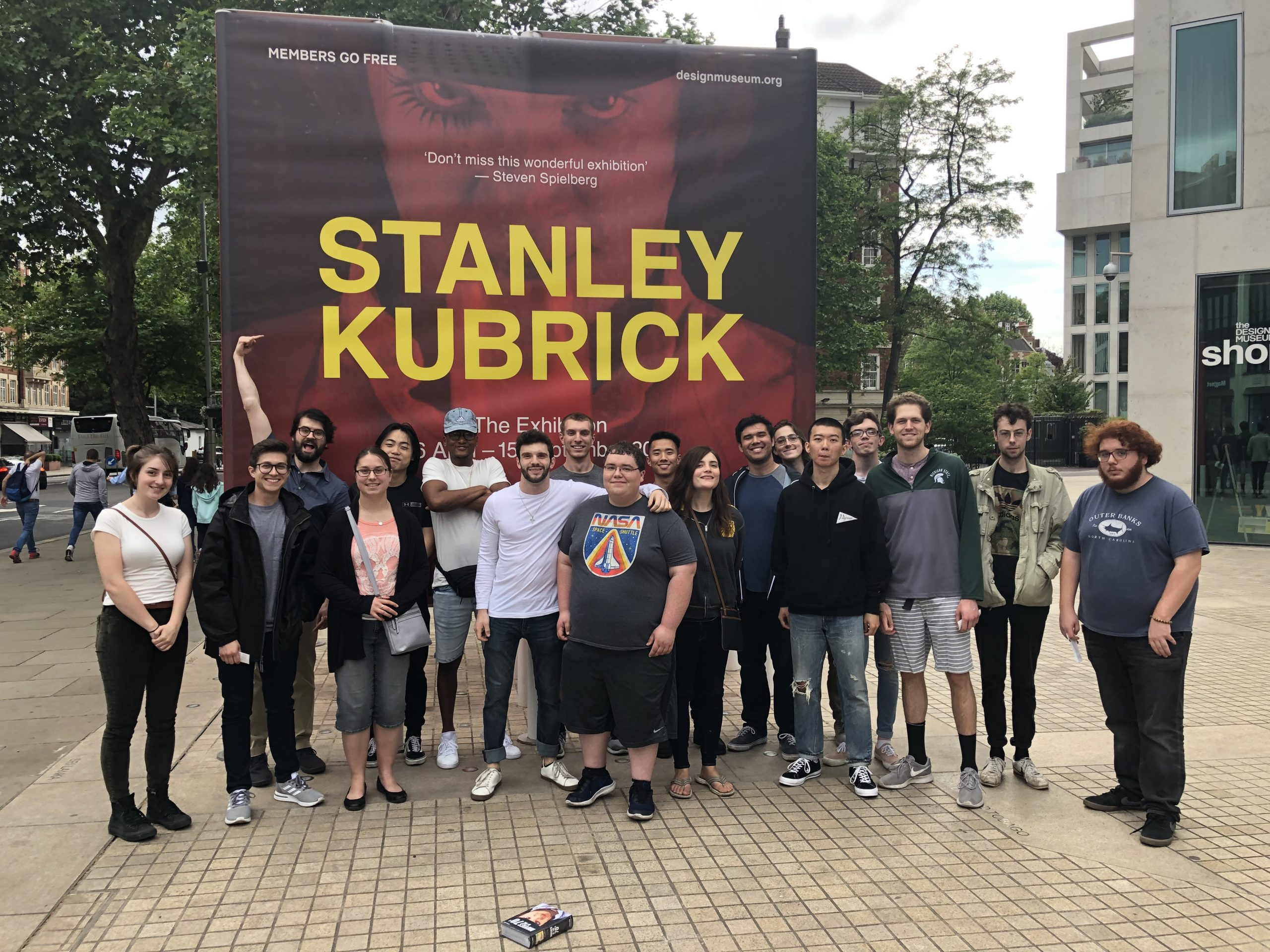 Stanley Kubrick exhibition at the London Design Museum, summer 2019