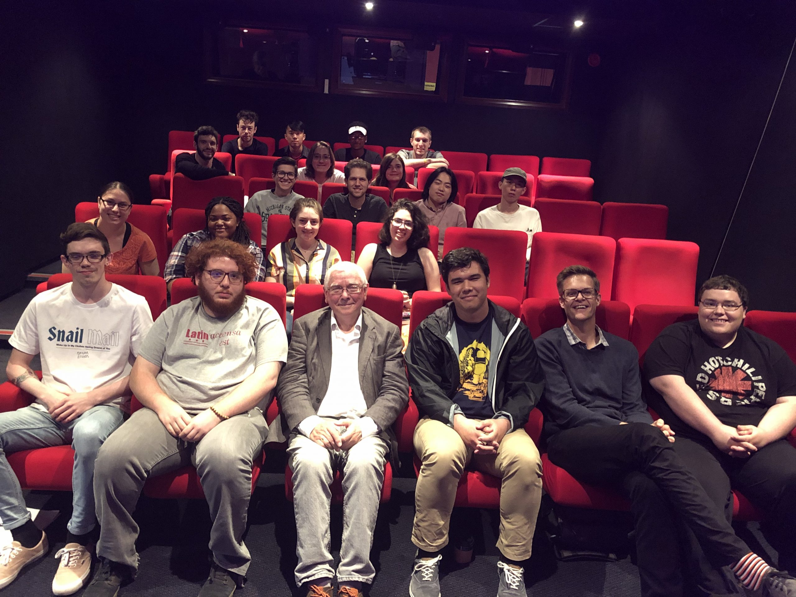 Terence Davies & students at BFI