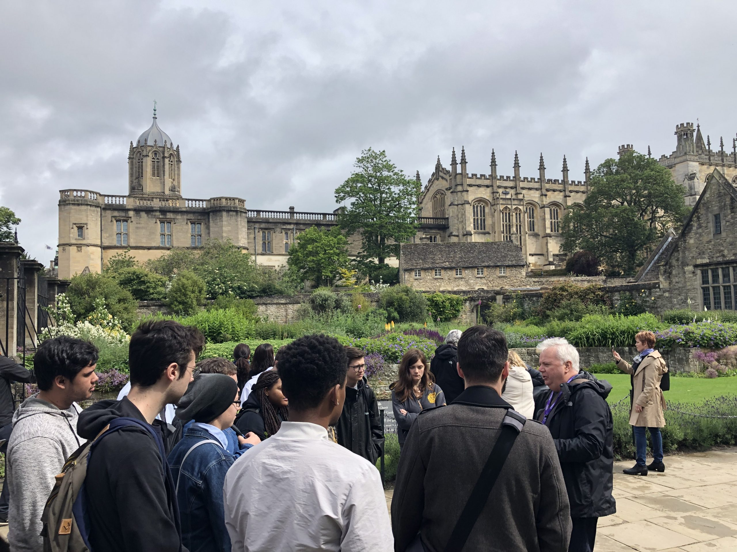 Meeting our guide in Oxford