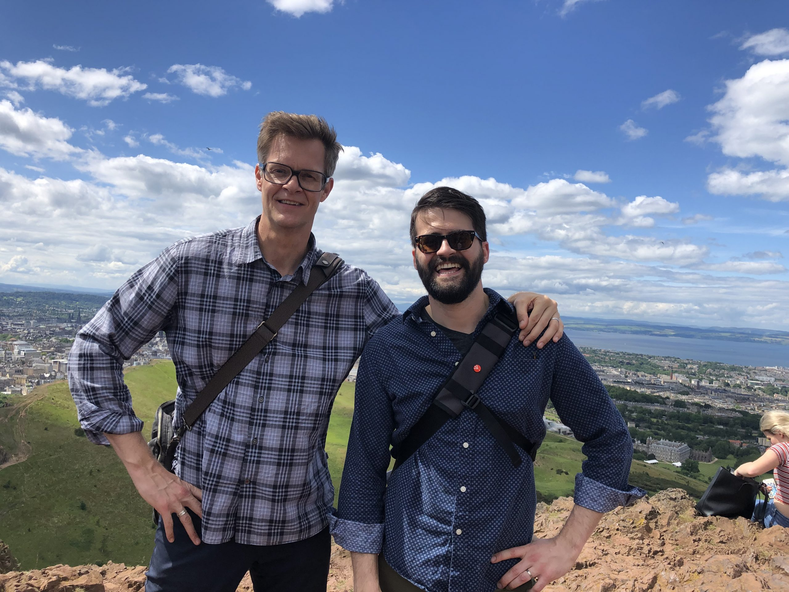 Justus & Pete at Arthur's Seat, Edinburgh